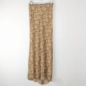 Anthro Ecote Flowy Snake Print Super Maxi Skirt